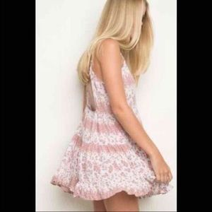 Brandy Melville Rare Pink Rose Jada Dress